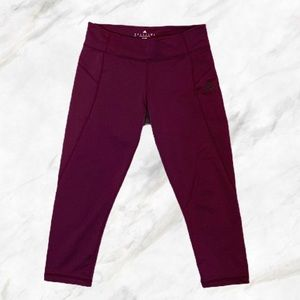 Adidas | Purple Climate Cool Ankle Crop Leggings